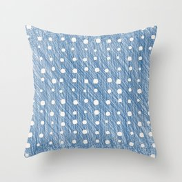 Scribbly Lines Throw Pillow