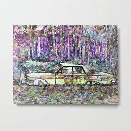 Abandoned Classic Car Metal Print