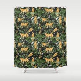 Cheetah in the wild jungle Shower Curtain