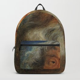 Anthony van Dyck - Portrait study of an old man's head Backpack