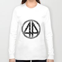 bands Long Sleeve T-shirts featuring Floral bands by ART ON CLOTH