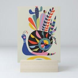 snail succulents Mini Art Print
