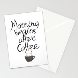 Morning Coffee Cat Stationery Cards