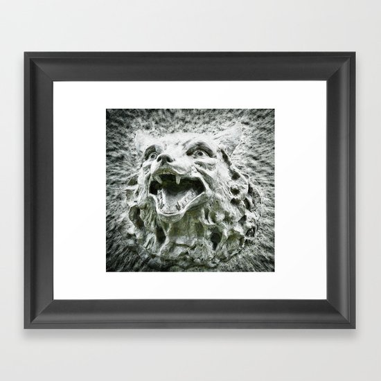 Stand Down, Little Red. Framed Art Print