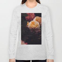 Bouquet Of Sunset Yellow orange Purple Flowers Long Sleeve T-shirt