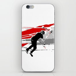 Spinning the Deck - Tail-whip Scooter Stunt iPhone Skin