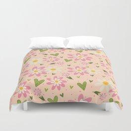 Faye's Flowers Duvet Cover