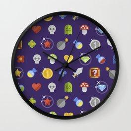Video Game Universe Pattern Wall Clock