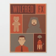 WILFRED FX ILLUSTRATED POSTER Canvas Print