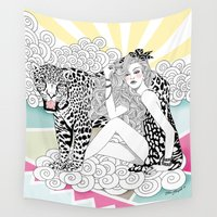 jaguar Wall Tapestries featuring Jaguar by Hue Huynh
