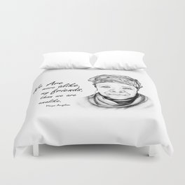Maya Angelou Quote from Human Family Duvet Cover