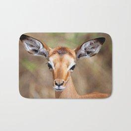 Cute litte Impala, Africa wildlife Bath Mat
