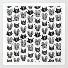 Bats VII Art Print