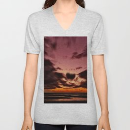Storm at the Beach Unisex V-Neck