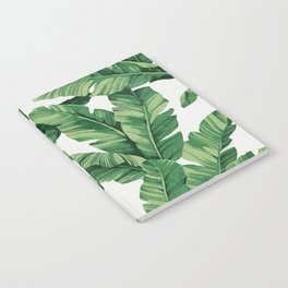 Tropical banana leaves Notebook