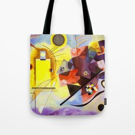 Wassily Kandinsky Yellow Red Blue Tote Bag