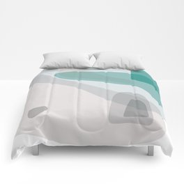 Abstract Early Morning Ocean Landscape Comforters