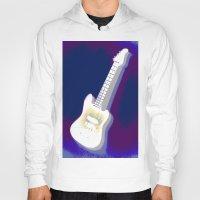 guitar Hoodies featuring Guitar by Vitta