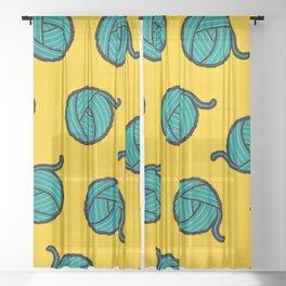 Wool & Yarn Pattern Sheer Curtain