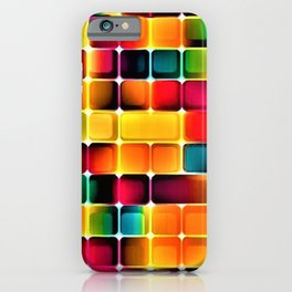 Abstract Colors in Grid by Jeanpaul Ferro iPhone Case