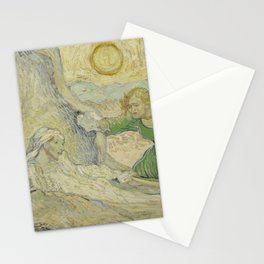 The Raising of Lazarus (after Rembrandt) Stationery Cards