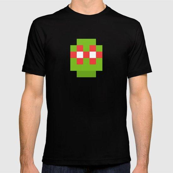 hero pixel green red T-shirt