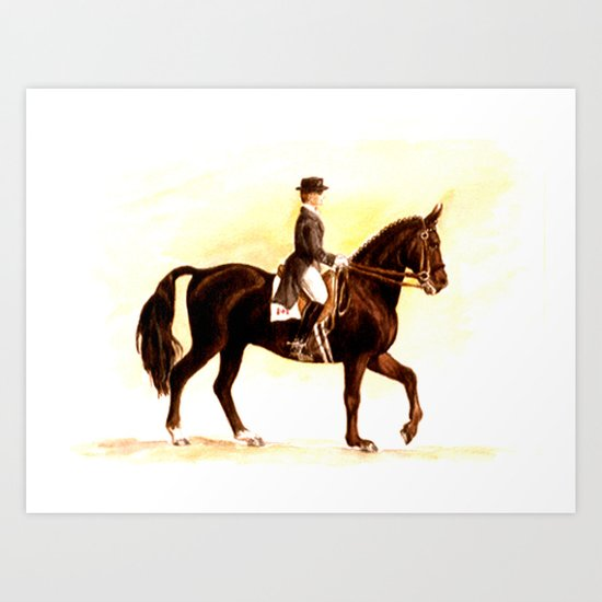 Horses and People No.2 Art Print