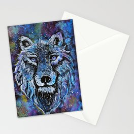 Wolf painting Stationery Cards