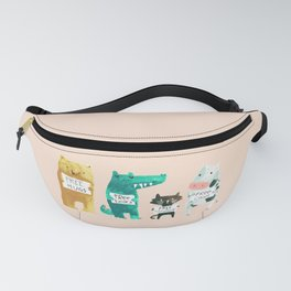 Animal idioms - its a free world Fanny Pack