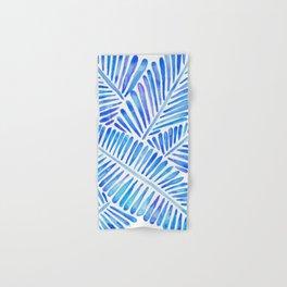 Tropical Banana Leaves – Blue Palette Hand & Bath Towel