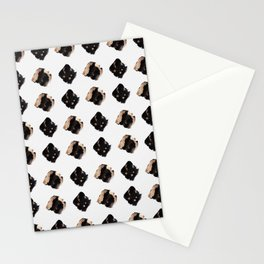 Black and gold diamond pattern Stationery Cards