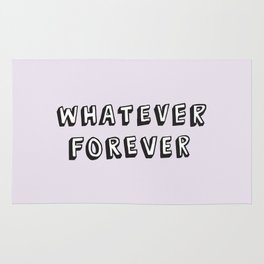 Whatever Forever (Purple) Rug