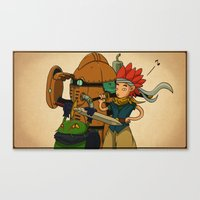 chrono trigger Canvas Prints featuring Chrono Trigger Tribute  by poizeh