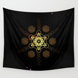 Metatron's Cube Platonic Solids Wall Tapestry