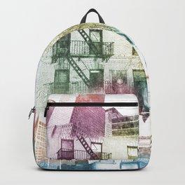 N.Y. collage color burst Backpack
