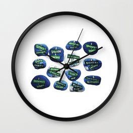 At the Crossroads of... rock paintings by annmariescreations Wall Clock