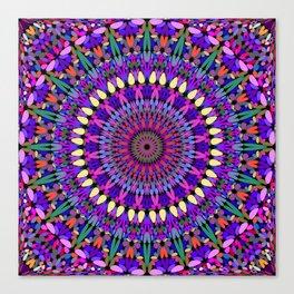 Bohemian Blossom Mandala Canvas Print