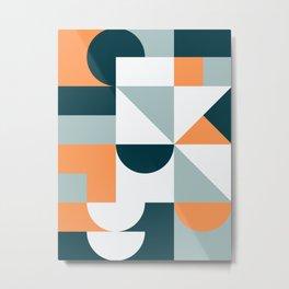 Mid Century Modern Geometric 22 Metal Print