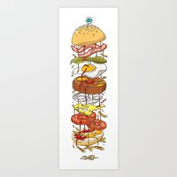burger Art Prints featuring Burger by Duke.Doks