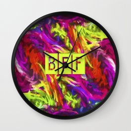 BFF - Best Friends Forever! Wall Clock