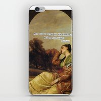jane austen iPhone & iPod Skins featuring jane austen  by Emily P
