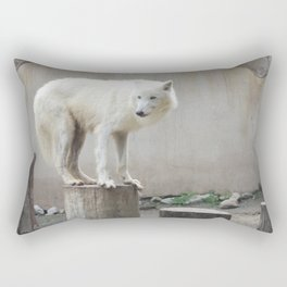 Arctic Wolf 2 Rectangular Pillow