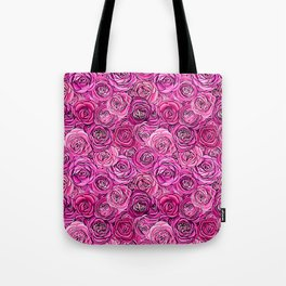 Pink roses romance floral all over print Tote Bag