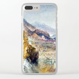 Joseph Mallord William Turner Chatel Argent Clear iPhone Case