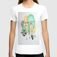 vespa T-shirts featuring Vespa  by Melissa Rodriguez