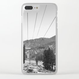 Riding The Lift Clear iPhone Case