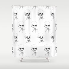 Skull with Tentacles Shower Curtain