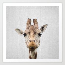 Giraffe - Colorful Art Print