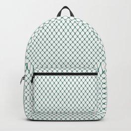White Christmas Wallpaper Pattern Backpack