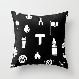Pattern Yoga Mat Reverse Throw Pillow